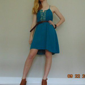 Teal Casual Knee-Length Mossimo Supply Co. Dress